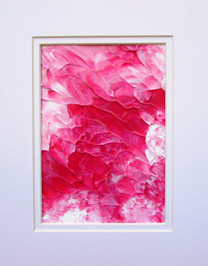 Pink Floral Abstract Acrylic Original Painting