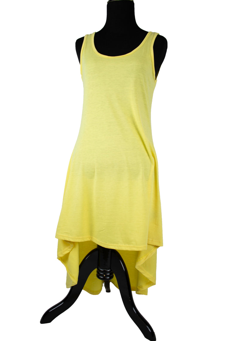 High-Low Sleeveless Top - Yellow