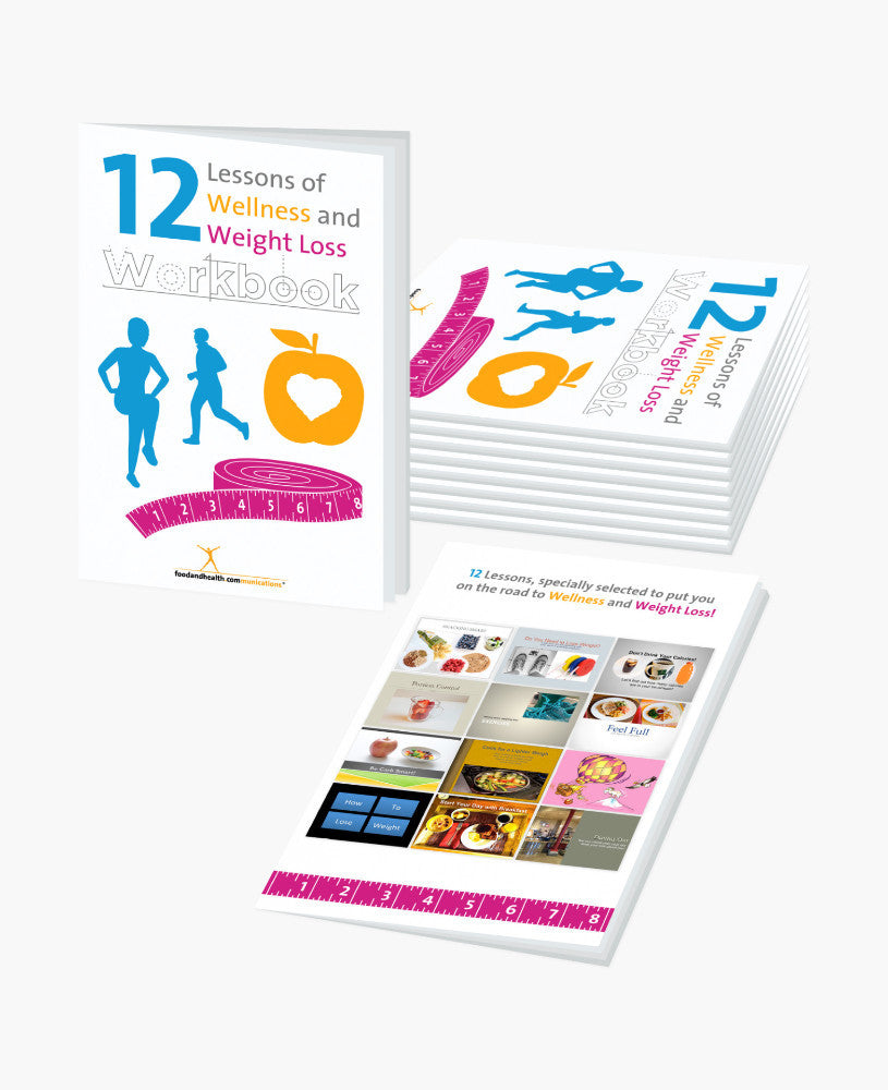 12 Lessons 16-Page Workbook - Pack of 10 - Nutrition Education Store