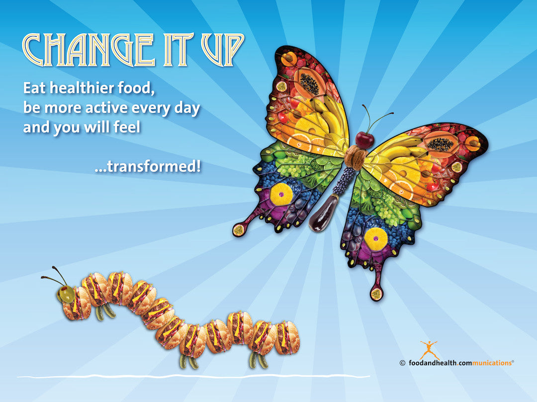 "Change It Up Banner 48"" X 36"" Vinyl - Nutrition Education Store"