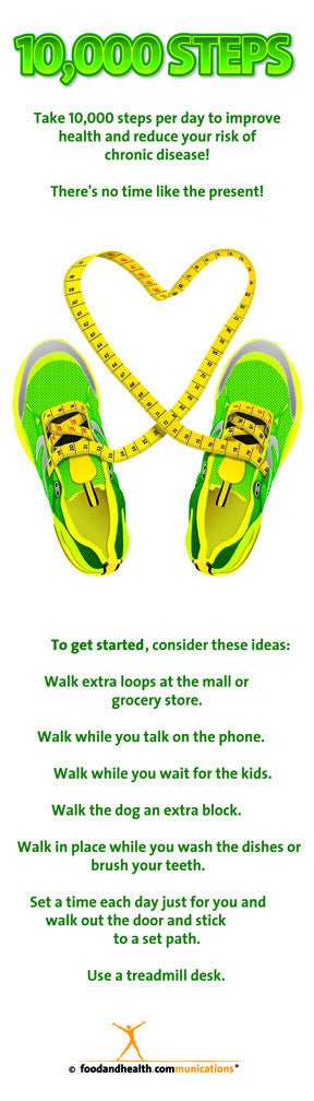 """10K Steps Bookmarks 2"""" X 7"""" pack of 50 - Nutrition Education Store"""