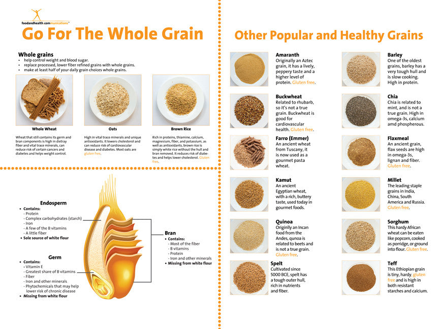 """Custom Whole Grain Banner 48"""" X 36"""" - Add Your Logo To This Health Fair Banner - Nutrition Education Store"""
