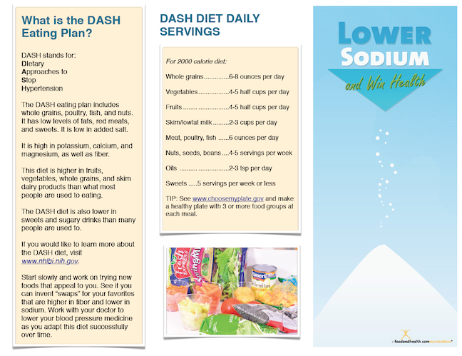 Low Sodium Success Brochure - Packets of 25