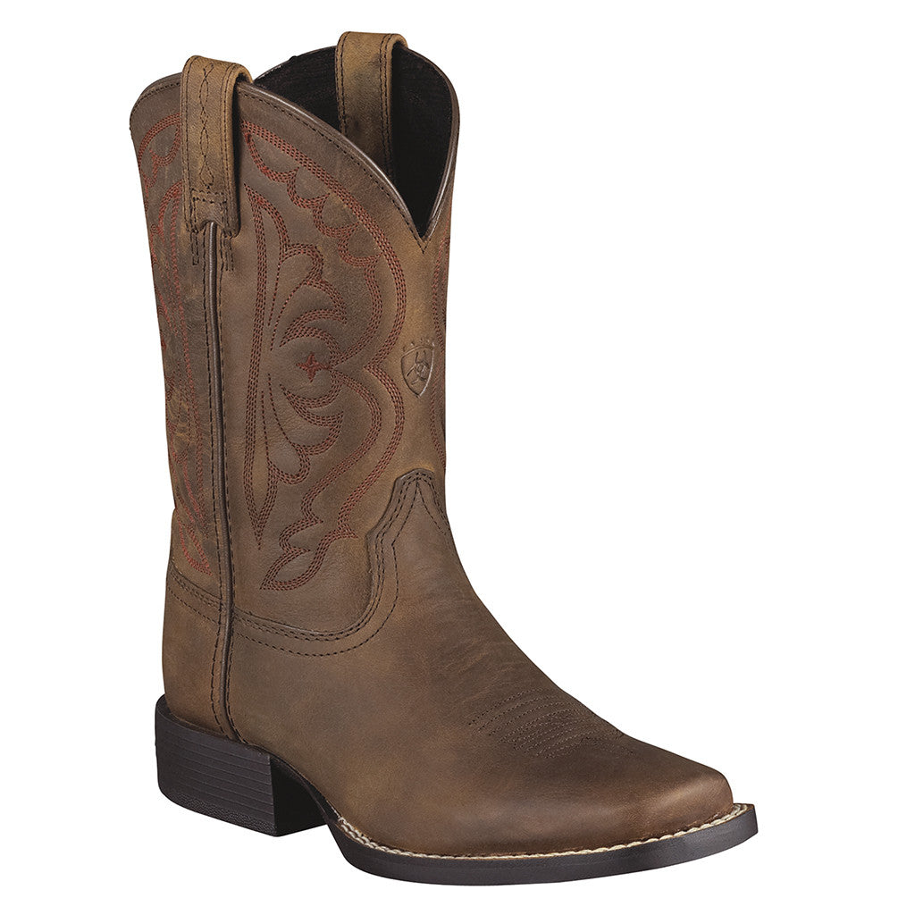 Ariat Kid's Quickdraw Western Square Toe Boots