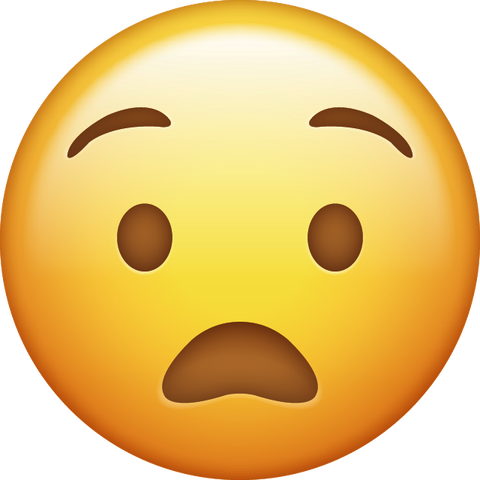 Anguished Emoji [Download Anguished Face Emoji in PNG]