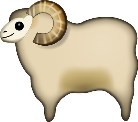Download Sheep Emoji PNG