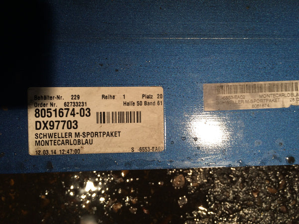 BMW M5  DRIVERS SIDE SKIRT 2013 51777903888