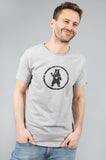 Urban Grey Distressed Circle Bear Logo Organic Cotton T-Shirt