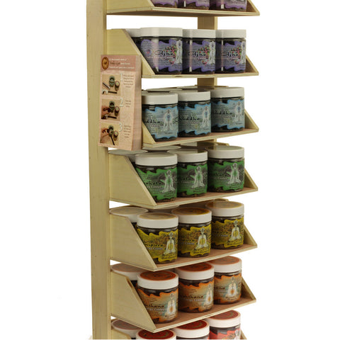 Display Rack - Herbal Resin Incense - Chakra Line - 42 Jars 2.4oz