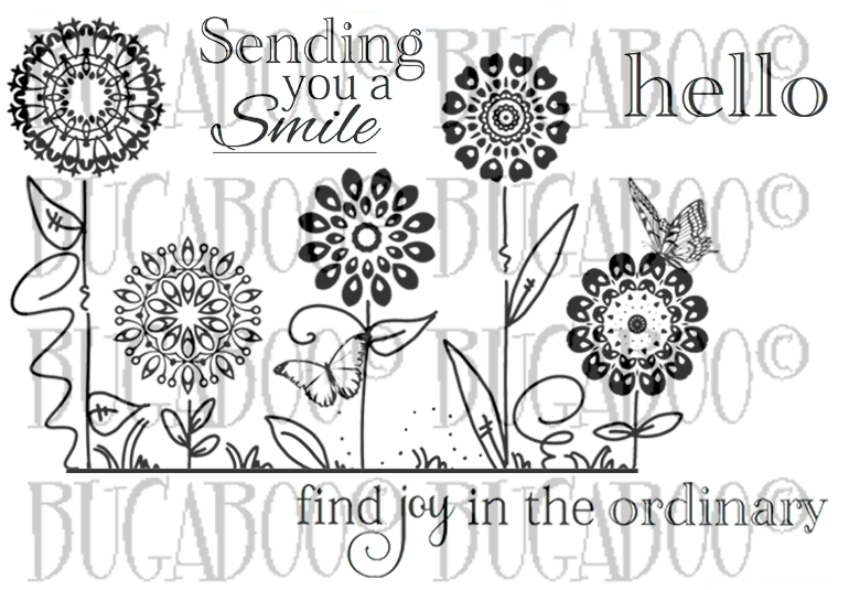 Flower Silhouette Rubber Stamp Set [00-824P5]