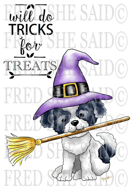 A Puppy's Halloween Digital Stamp Set [DIGI863FS]