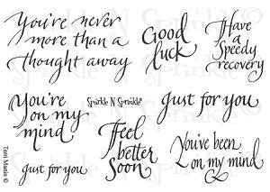 Just for You Rubber Stamp Set [00-444P5]
