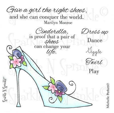 Cinderella Slipper Rubber Stamp Set [00-528P7]