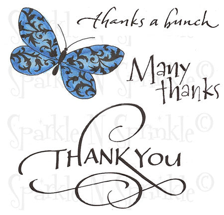 Thanks Rubber Stamp Set [00-577P7]