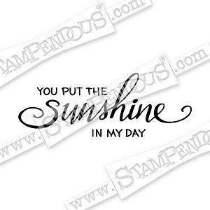 Scrolled Sunshine Stampendous Rubber Stamp [CRL271]