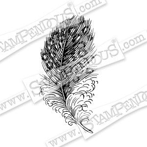Spotted Feather Stampendous Rubber Stamp [CRM322]