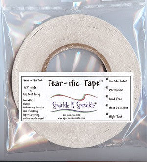 "1/2"" x 55 yds. Double Sided ""Tear-ific"" Tape, SAT04"