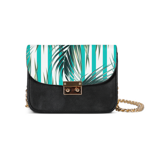 Palms & Stripes Small Shoulder Bag