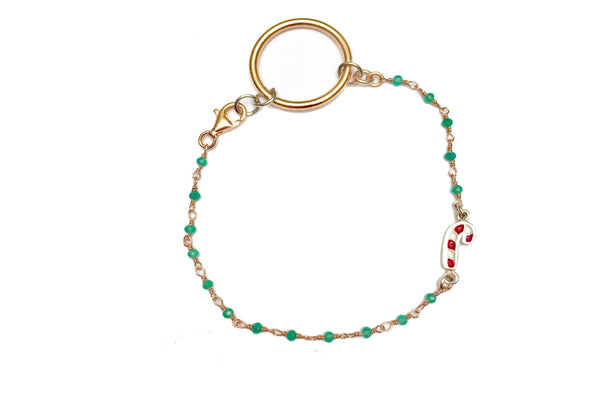GREEN CHRISTMAS JEWEL BRACELET