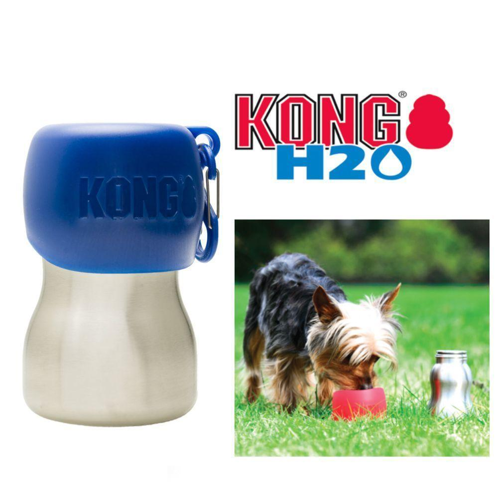 KONG H20 9.5oz Stainless Steel/Blue