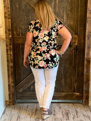 Loose Fit Floral Tunic Top