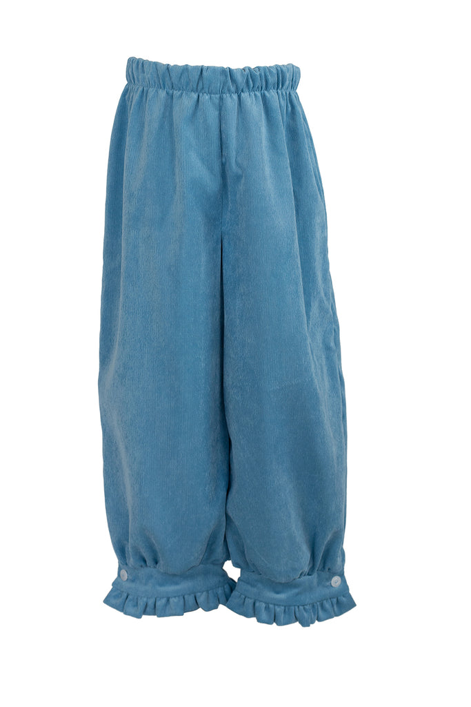 Camille Pants in Poppy Blue Corduroy- Sample Size 6