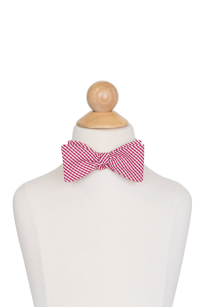 Bow Tie in Red Gingham- Sample