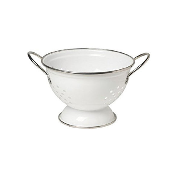 Colander, one quart, white