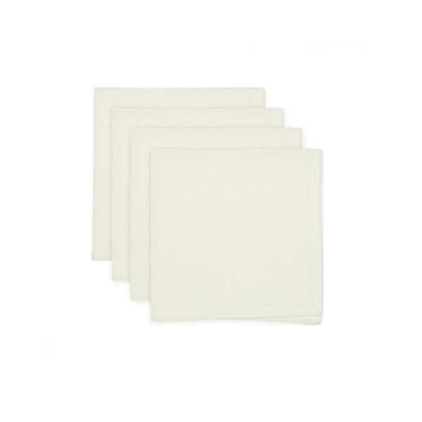 Napkin, one ivory cotton