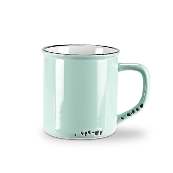 Mint Enamel-Look Mug green