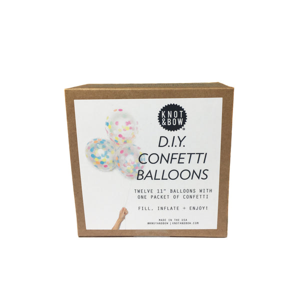 Rainbow Confetti Balloons-twelve per package, eleven inches