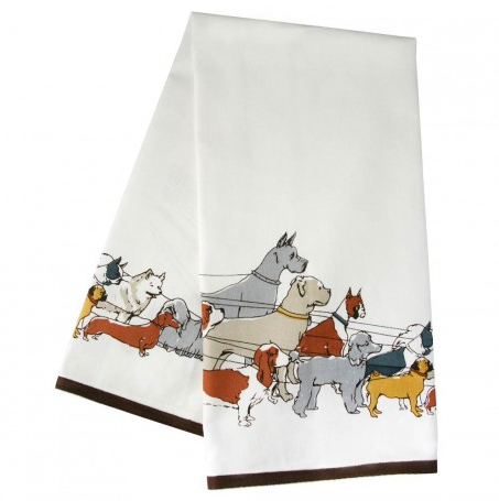 Dog Walker Tea Towel