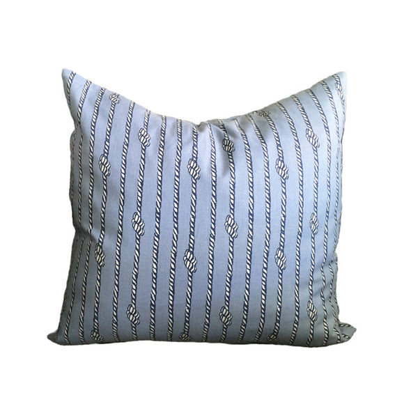 Throw Pillow, Nautical Rope, 16 x 16 inches, Faux-down Insert