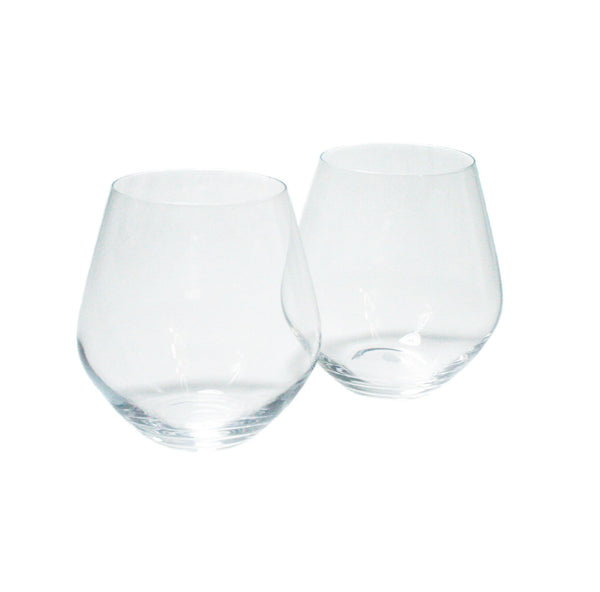 One Stemless Bohemian Wine Glass, seventeen ounces
