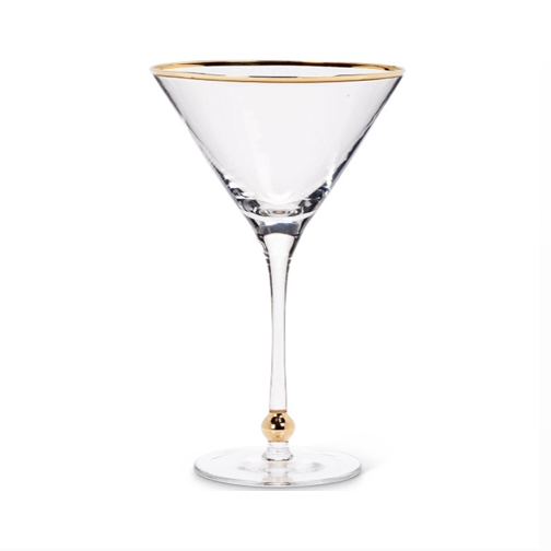 Gold Rimmed Martini Glass