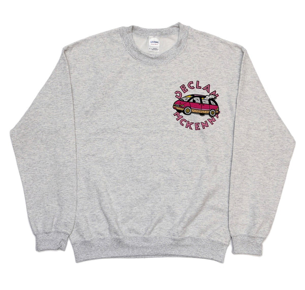 CAR LOGO GREY SWEATSHIRT