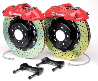 Brembo GT (Front-Drilled-Yellow): 350z