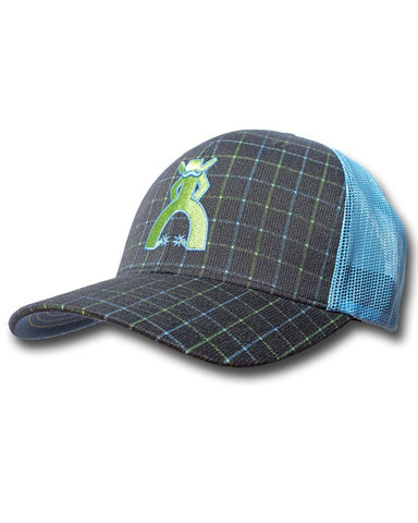 Hooey Mesh Back Trucker Ball Cap - Blue