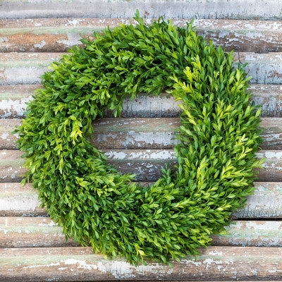 Faux Boxwood Wreath 20 Inch Outdoor