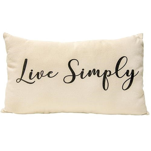 "Cotton ""Live Simply"" Pillow"