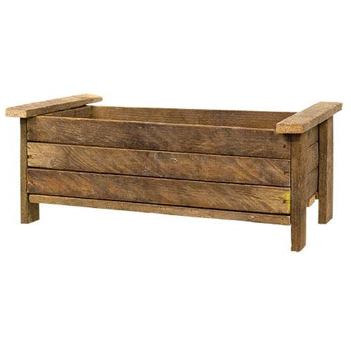 Rustic Wood Slatted Container