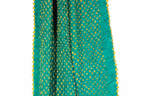 Silk Bandhani Scarf - Sea Green
