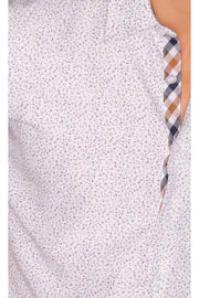Sambuca Short Sleeve Dotted White