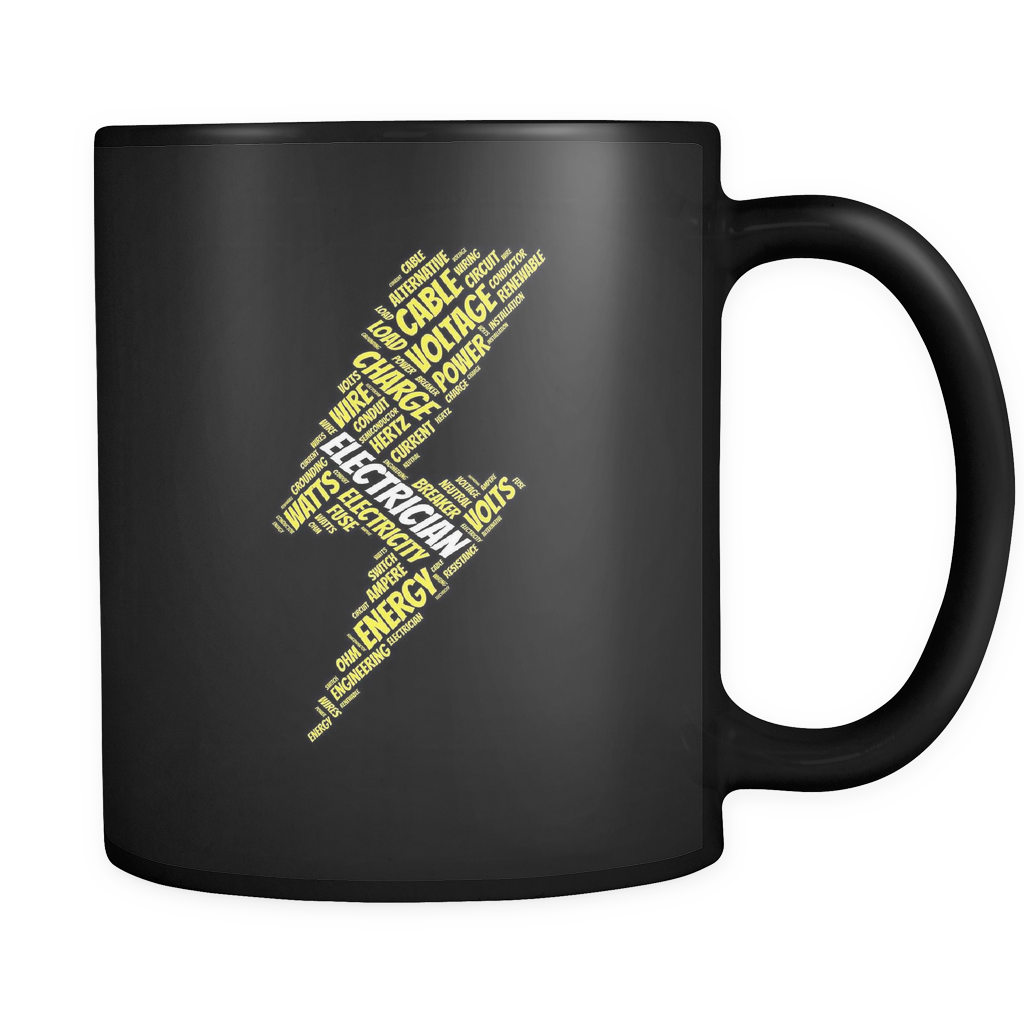 Electrician Black Mug
