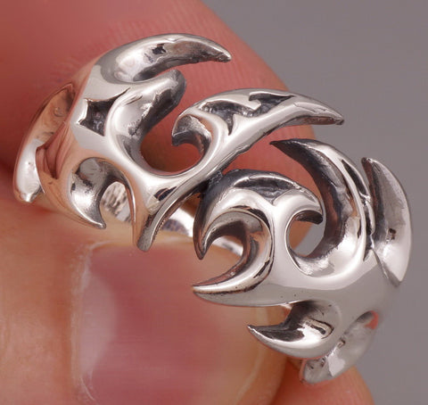 12g tattoo blades ring 925 sterling silver