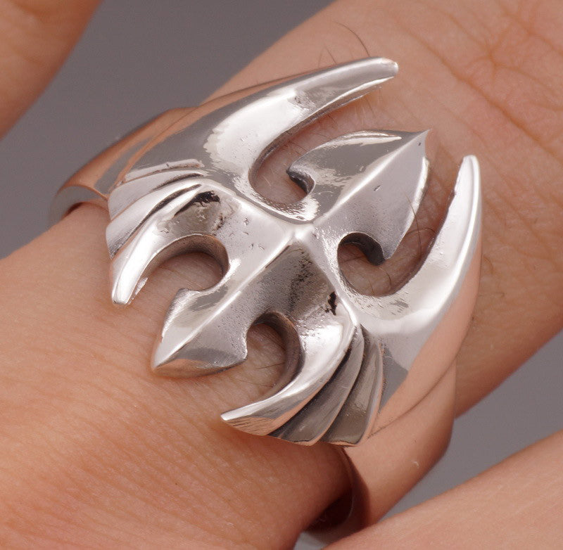 8g space ship ring 925 sterling silver