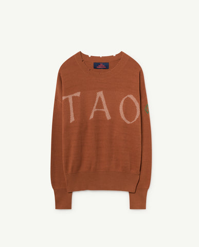 TAO BULL KIDS SWEATER // DEEP BROWN TAO