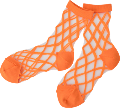 Transparant socks // orange