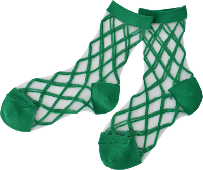 Transparant socks // green