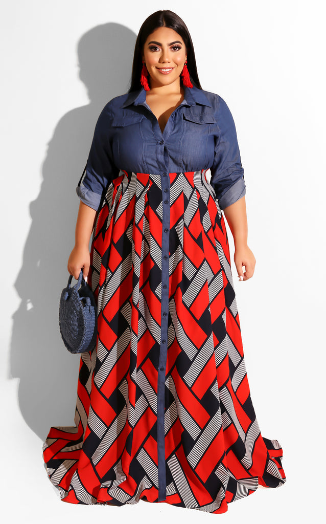 Curvy Easy Up Maxi